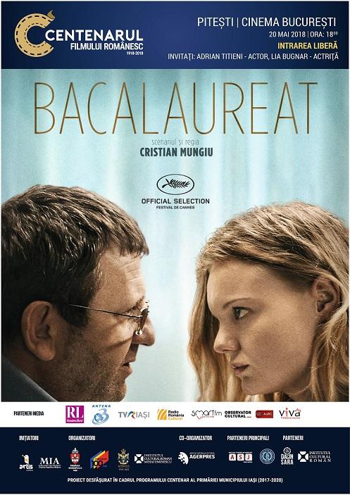 """CENTENARUL FILMULUI ROMÂNESC VINE LA PITEȘTI cu filmul """"BACALAUREAT"""""""